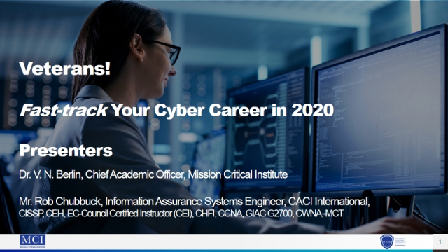 Veterans: Fast-track your cyber career in 2020!