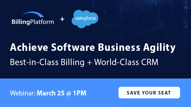 Achieve Software Business Agility: Salesforce + BillingPlatform DataSync