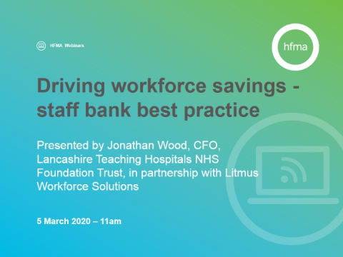 Driving workforce savings - staff bank best practice