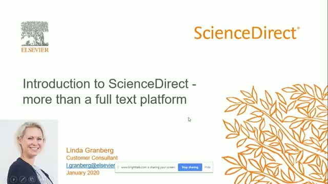 Introduction to ScienceDirect - more than a full text platform