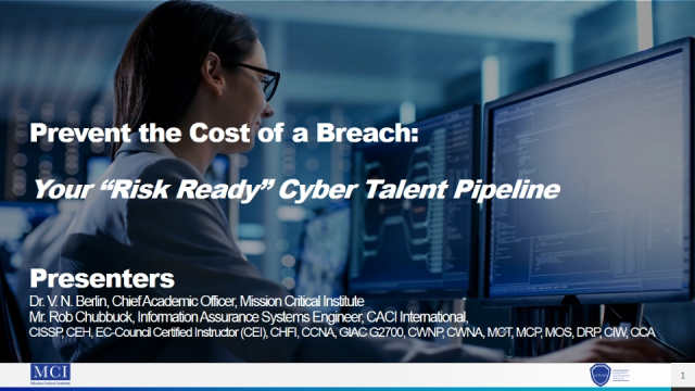 """Prevent the Cost of a Breach with your """"Risk Ready"""" Cyber Talent Pipeline"""