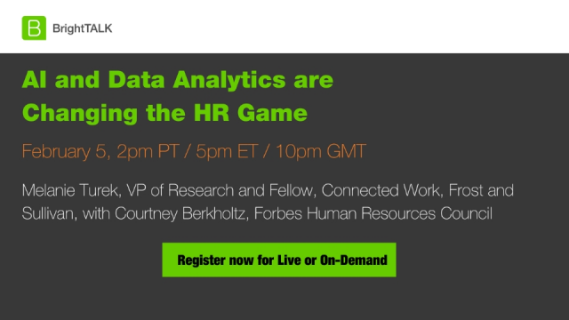 AI and Data Analytics are Changing the HR Game