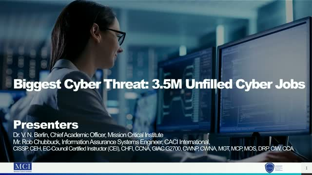 Biggest Cyber Threat: 3.5 M Unfilled Cyber Jobs