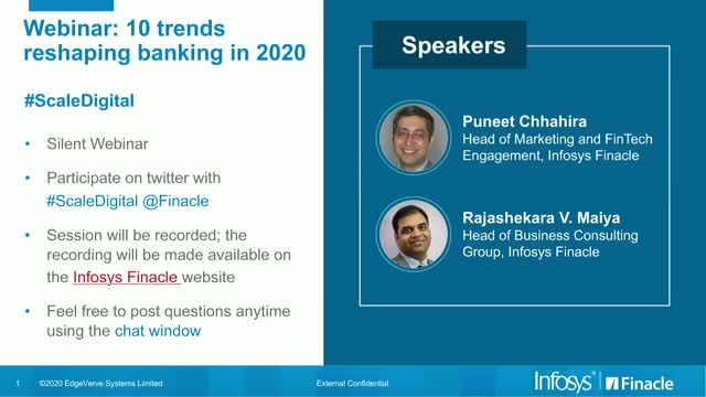 Scale Digital - Slot 2: 10 Trends Reshaping Banking in 2020