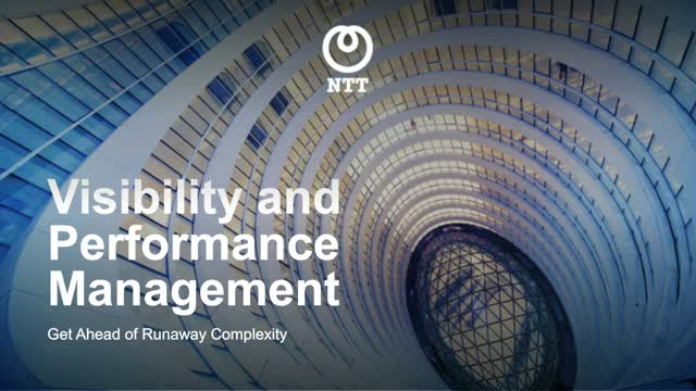 Visibility and Performance Management