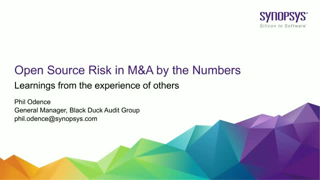 Open Source Risk in M&A by the Numbers