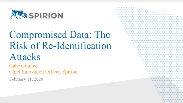 Compromised Data – The Risk of Re-identification Attacks