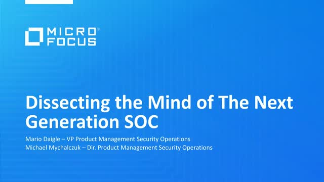Dissecting the Mind of the Next-Gen SOC