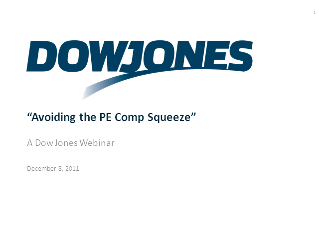 """Avoiding the PE Comp Squeeze"""