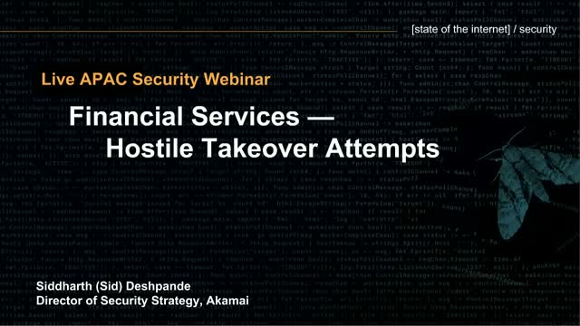 [Postponed] State of the Internet / Security Financial Services
