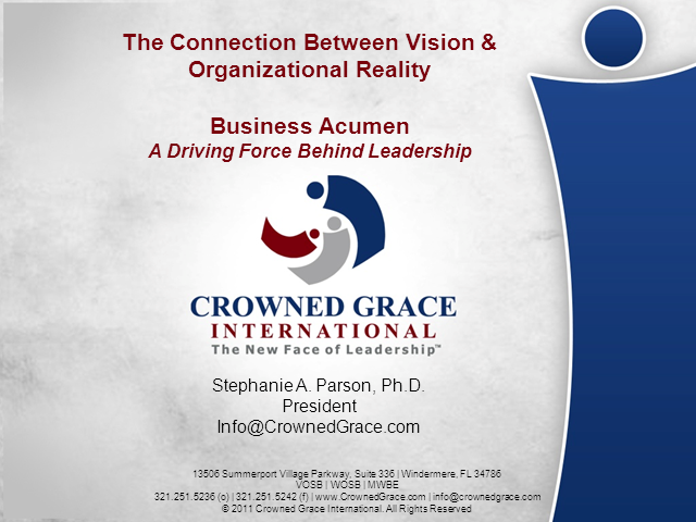 Business Acumen - A Driving Force Behind Leadership