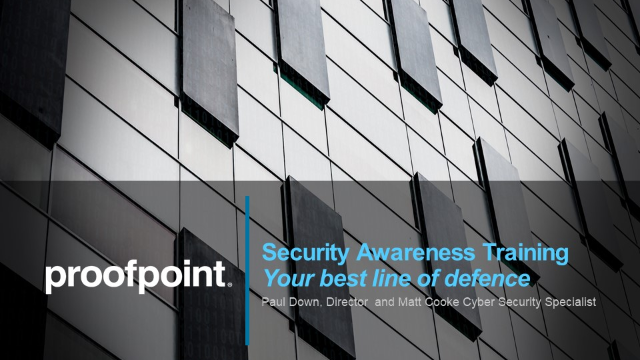 Security Awareness Training –Your best line of defence