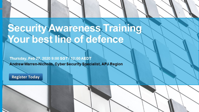 Security Awareness Training – Your best line of defence