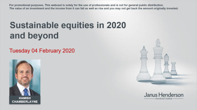 Sustainable equities in 2020 and beyond