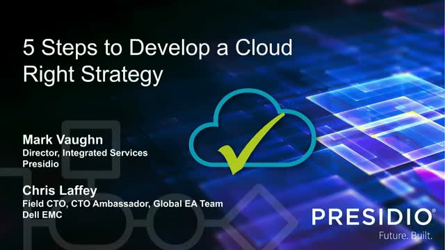 5 Steps to Develop a Cloud Right Strategy
