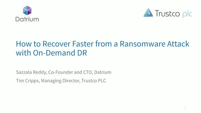 How to Recover Faster from a Ransomware Attack with On-Demand DR