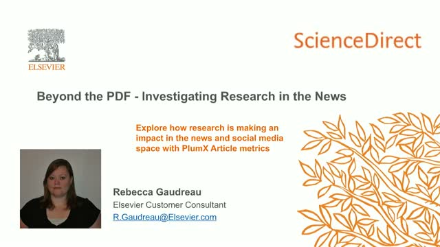 ScienceDirect - Beyond the PDF: research in the News
