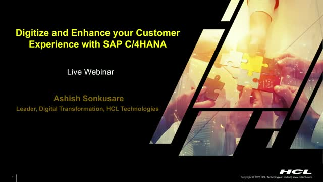 Digitize and Enhance your Customer Experience with SAP C/4HANA