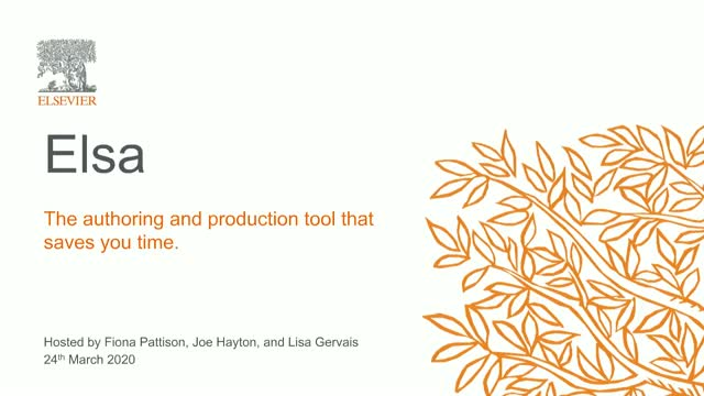 Elsa: The authoring and production tool that saves you time.