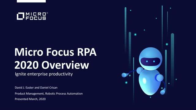 What's New in Micro Focus RPA 2020.02