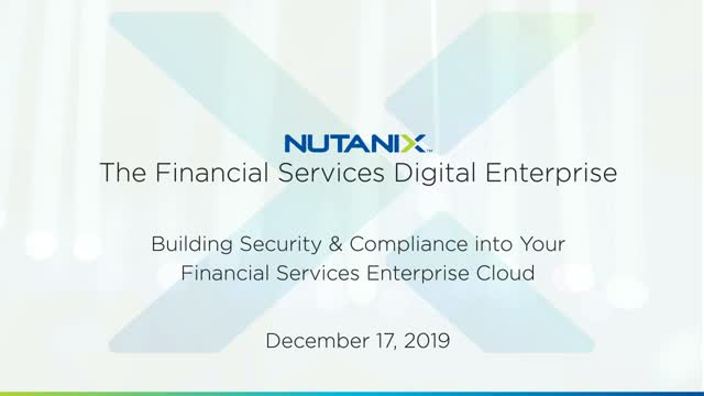 Why You Should Build Security & Compliance Into Your FinServ Enterprise Cloud