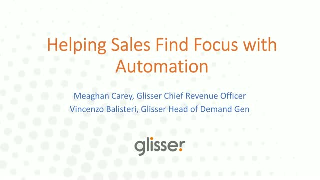 Helping Sales Find Focus with Automation