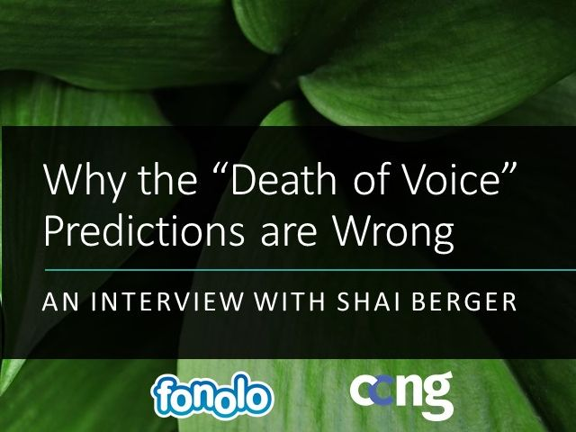 """Why the """"Death of Voice"""" Predictions are Wrong - An Interview with Shai Berger"""