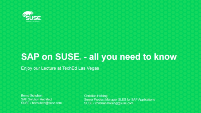 SAP & SUSE: Everything You Need To Know