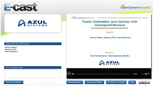 Faster Embedded Java Startup with Checkpoint/Restore