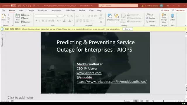 Predicting and Preventing Service Outage Failures for Real-Time Applications