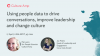Using people data to drive conversations, improve leadership and change culture