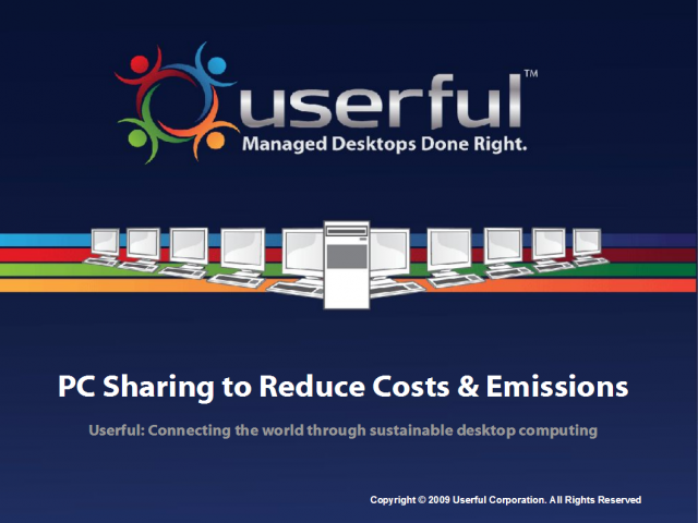 PC Sharing to Reduce Costs and Emissions