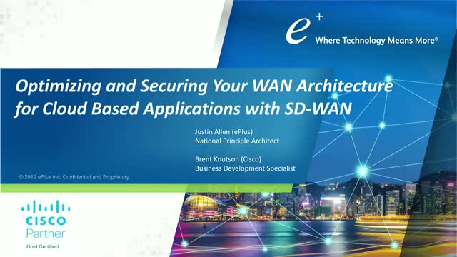 How to Optimize and Secure Your WAN Architecture for Cloud Based Applications