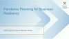 Pandemic Planning for Business Resiliency