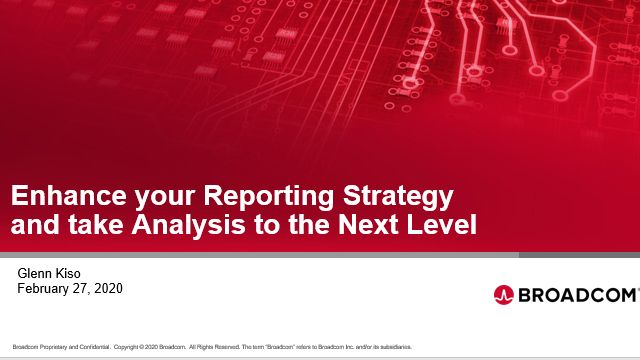 Enhance your Reporting Strategy and take Analysis to the Next Level