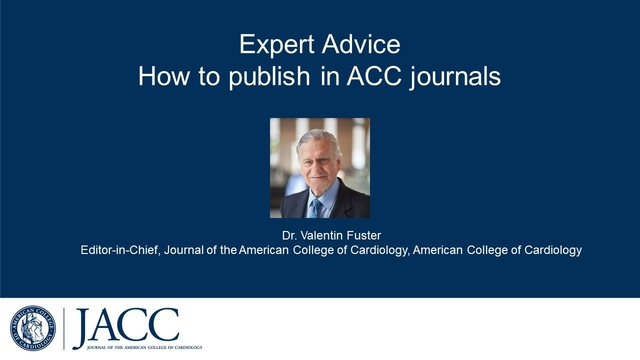 Expert Advice: How to publish in ACC Journals