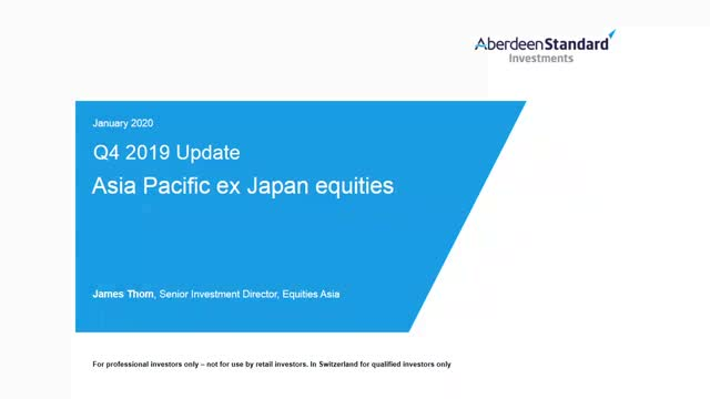Asia Pacific ex Japan Equities Q4 2019 Update