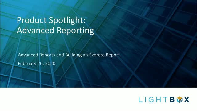 Advanced Reporting with Collateral360