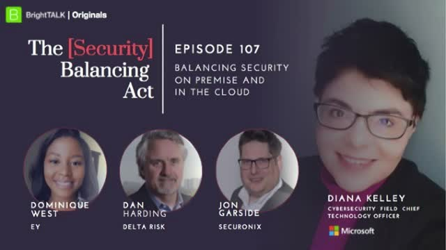 Balancing Security on Premise and In The Cloud