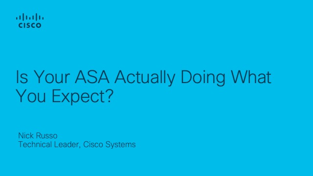 Is Your ASA Actually Doing What You Expect?