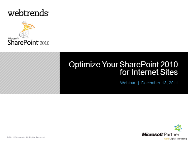 Optimize Your SharePoint 2010 for Internet Sites