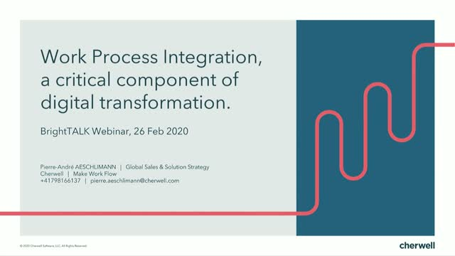 Work Process Integration, a critical component of digital transformation.