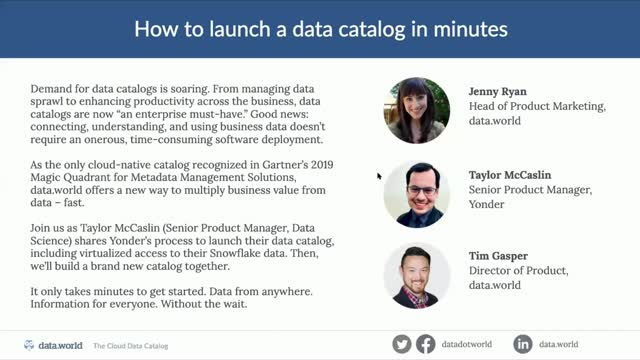 How to Launch a Data Catalog in Minutes