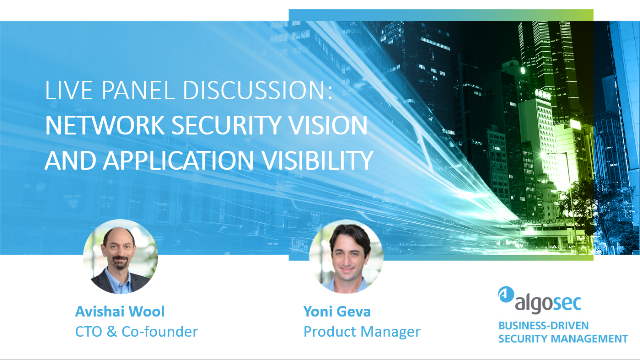 Network Security Vision with Application Visibility
