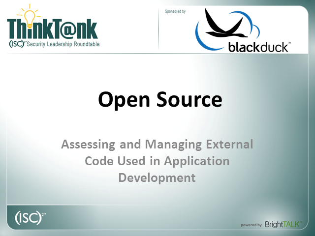 Open Source: Assessing and Managing External Code in Application Development