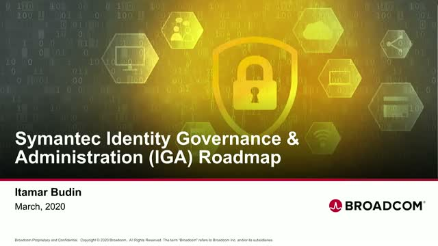 Symantec Identity Management Product Roadmap