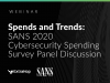 SANS Institute: 2020 Cybersecurity Spending Survey Panel Discussion