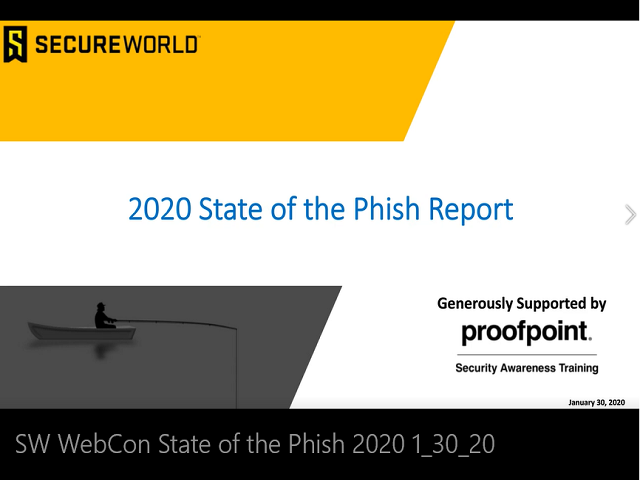Proofpoint State of the Phish 2020