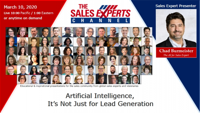 Artificial Intelligence, It's Not Just for Lead Generation