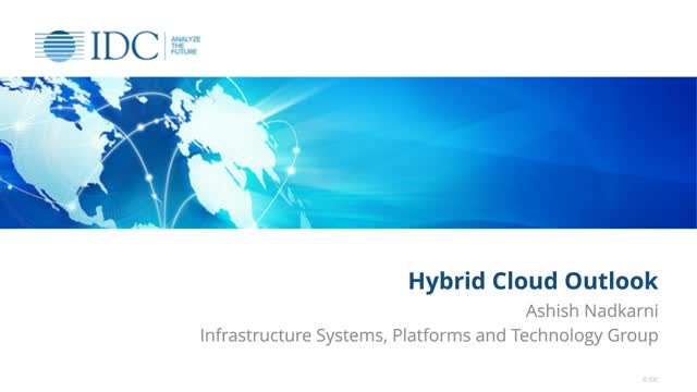 IDC and Nutanix Survey Results: Hybrid Cloud Outlook
